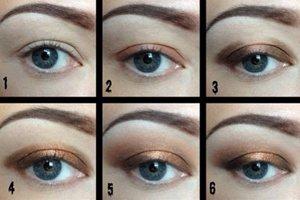 Карие глаза отлично подчеркивают цвета сиреневой, фиолетовой и синей гаммы, так же коричневая и темная гамма